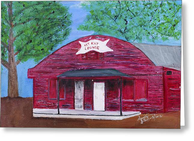 The Kit Kat Lounge Greeting Card by Swabby Soileau