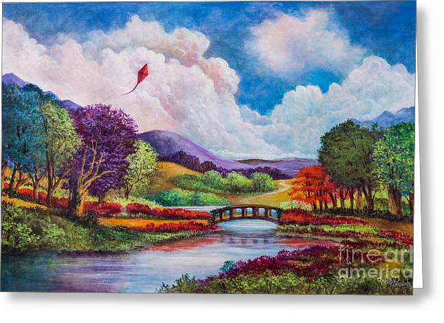 Randy Burns Greeting Cards - The Kite Greeting Card by Randy Burns