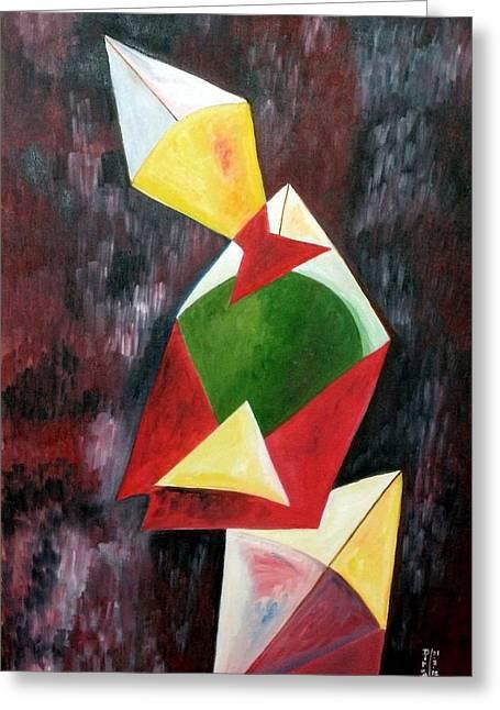 Kite Greeting Cards - The Kites Greeting Card by Dipali Deshpande