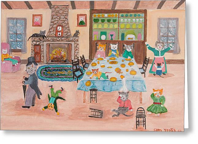 The Kittletons No School Today Greeting Card by Sam Yonts
