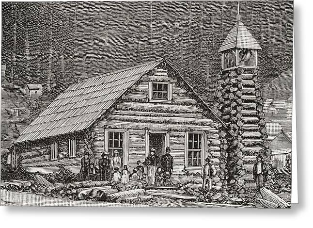 The Klondike Presbyterian Church At Juneau, Alaska Greeting Card by American School