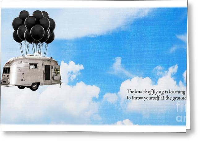 Uplifted Greeting Cards - The Knack of Flying Greeting Card by Edward Fielding