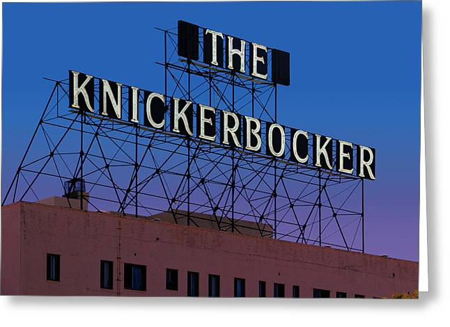Knickerbockers Greeting Cards - The Knickerbocker Greeting Card by Bill Jonas