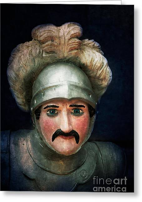 Wooden Sculpture Greeting Cards - The Knight Greeting Card by Mark Fearon