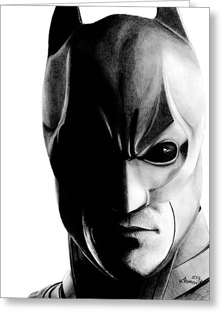 Batman Greeting Cards - The Knight Watch Greeting Card by Kayleigh Semeniuk