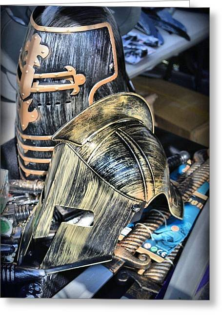 Stein Greeting Cards - The knights helmets Greeting Card by Valerie Stein
