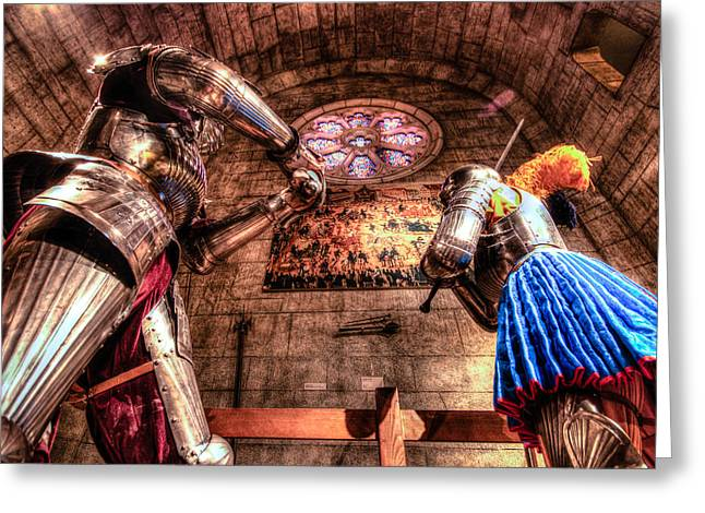Worcester Art Museum Greeting Cards - The Knights Greeting Card by Monica Benvenuti