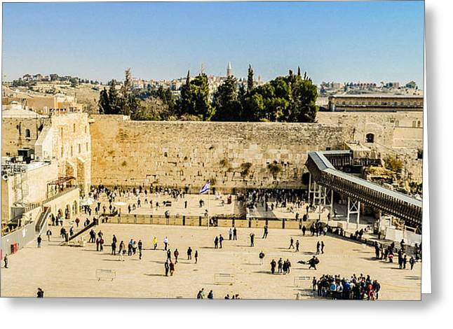 Birthright Greeting Cards - The Kotel Greeting Card by Alan Marlowe
