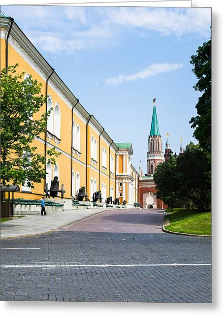Nicholas Greeting Cards - The Kremlin Arsenal - Square Greeting Card by Alexander Senin