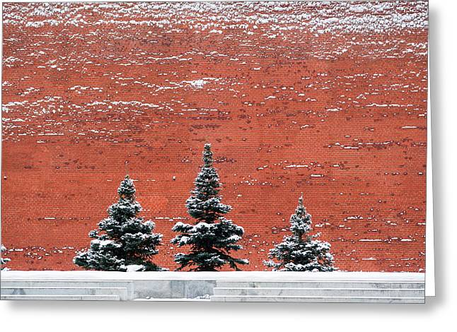 Cupola Greeting Cards - The Kremlin Wall - Featured 3 Greeting Card by Alexander Senin