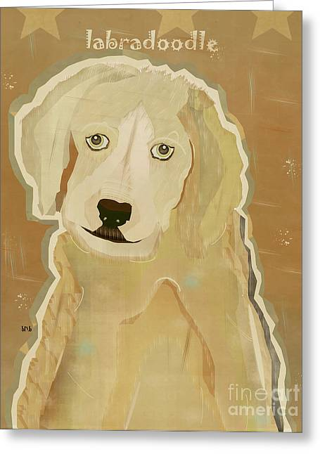 Portriats Greeting Cards - The Labradoodle Greeting Card by Bri Buckley