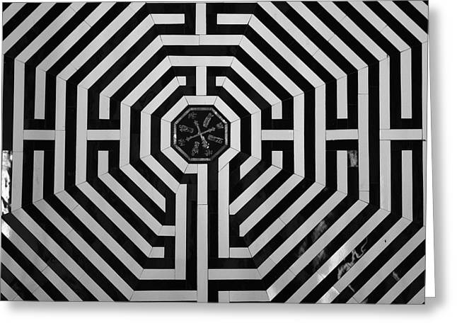 Sommes Greeting Cards - The Labyrinth Greeting Card by Aidan Moran