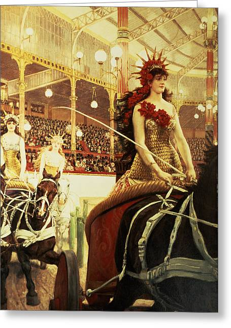 The Ladies Of The Cars Greeting Card by James Jacques Joseph Tissot