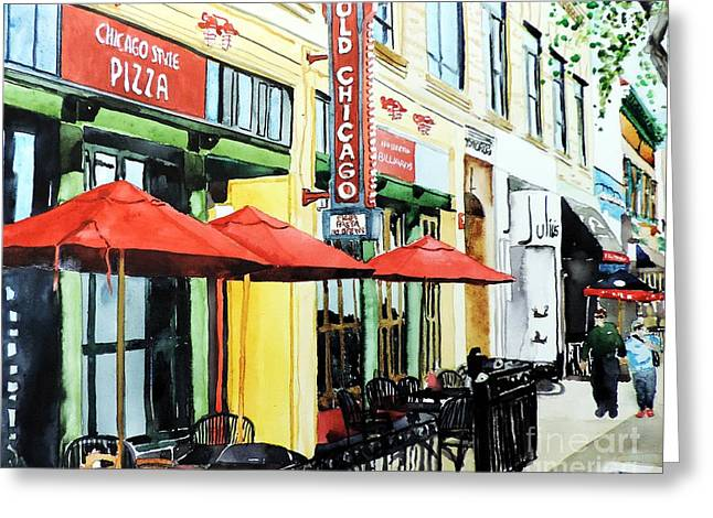 Fort Collins Greeting Cards - The Lady in Red Shoes Greeting Card by Tom Riggs