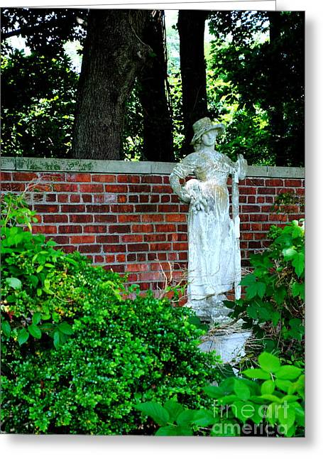 Garden Statuary Greeting Cards - the Lady of the Manor Greeting Card by Charlotte Stevenson