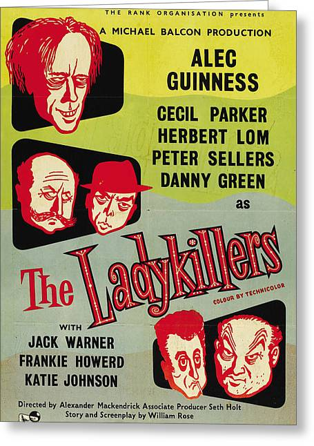 Recently Sold -  - 1955 Movies Greeting Cards - The Ladykillers - 1955 Greeting Card by Nomad Art And  Design