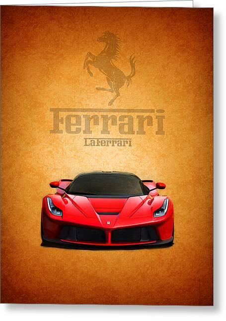 Red Ferrari Greeting Cards - The LaFerrari Greeting Card by Mark Rogan