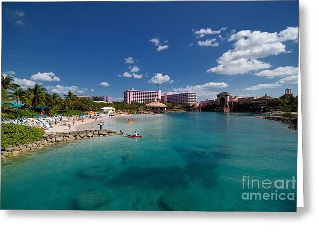 Atlantis Greeting Cards - The Lagoon at Atlantis Resort Greeting Card by Amy Cicconi