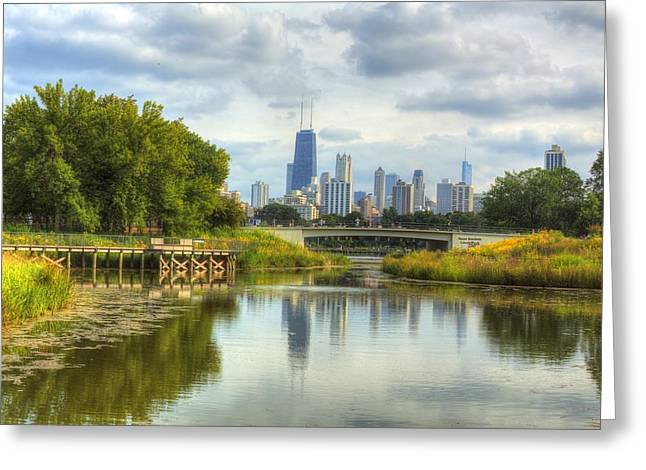 Lincoln Park Lagoon Greeting Cards - The Lagoon at Lincoln Park Greeting Card by Greg Thiemeyer