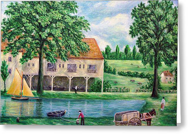 Horse And Cart Greeting Cards - The Lake District Boat House Greeting Card by Ronald Haber