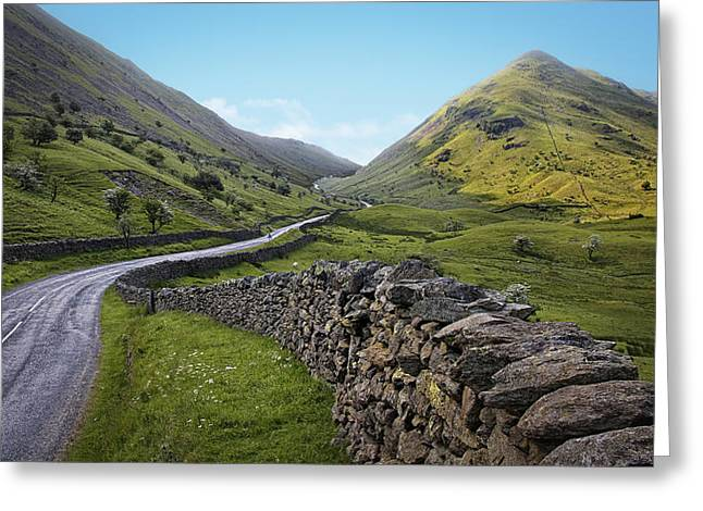 Mountain Road Greeting Cards - The Lake District Greeting Card by Jerry Deutsch