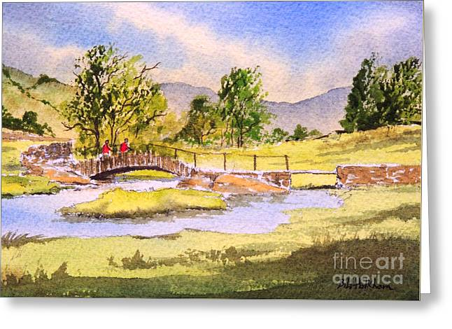 The Lake District - Slater Bridge Greeting Card by Bill Holkham