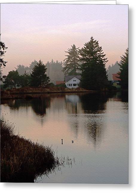 Reflection Harvest Greeting Cards - The Lake House Greeting Card by Pamela Patch