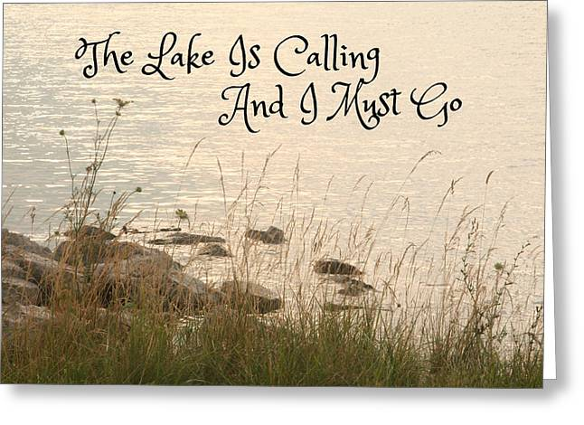 Peaceful Scenery Greeting Cards - The Lake Is Calling Greeting Card by Heather Allen