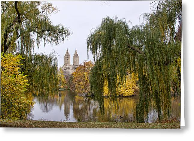 Central Park West Greeting Cards - The Lake Greeting Card by June Marie Sobrito