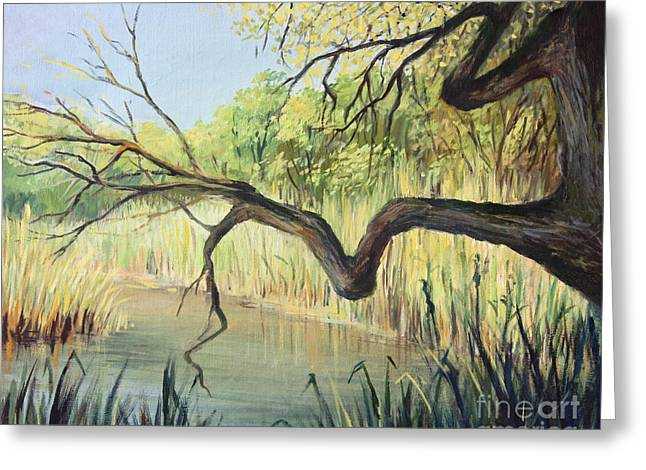 Flora Artwork Greeting Cards - The Lake of Silence Greeting Card by Kiril Stanchev