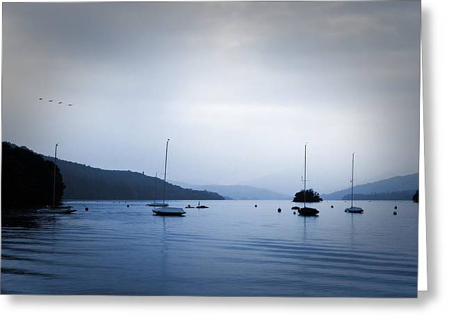 Bluesky Greeting Cards - The Lakes Greeting Card by Martin Newman