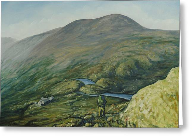 Backpacking Paintings Greeting Cards - The Lakes of the Clouds Greeting Card by Erik Schutzman
