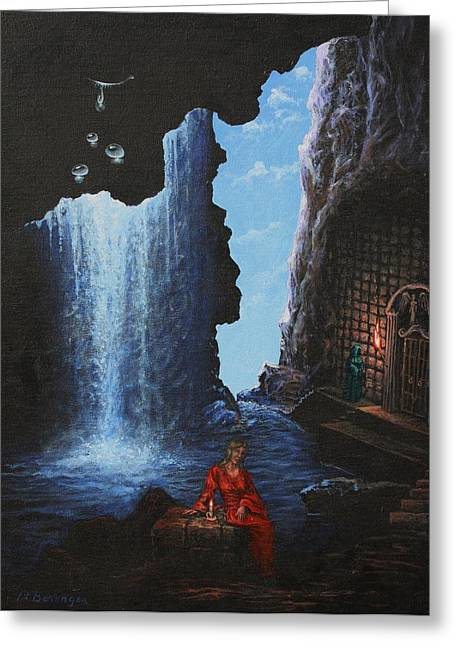 Cavern Paintings Greeting Cards - The Lamentable Soliloquy Greeting Card by Randy Berenger