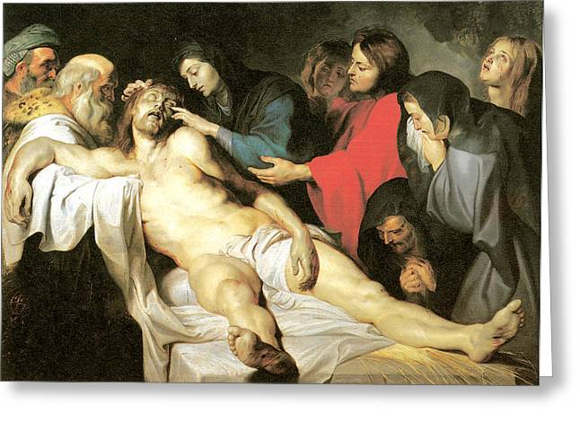 Lamentation Greeting Cards - The Lamentation Greeting Card by Peter Paul Rubens