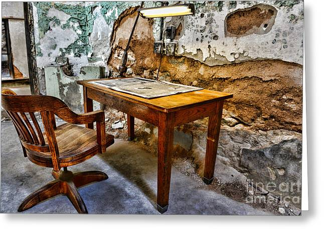 The Lamp and the Chair Greeting Card by Paul Ward