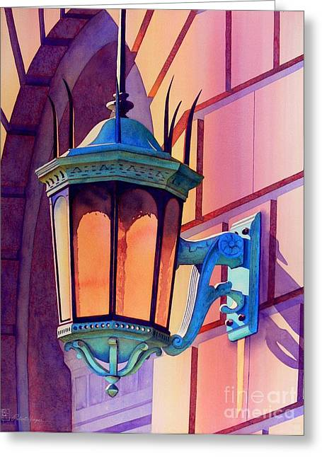 Prescott Greeting Cards - The Lamp On Goodwin Greeting Card by Robert Hooper