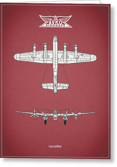 Airplane Greeting Cards - The Lancaster Greeting Card by Mark Rogan