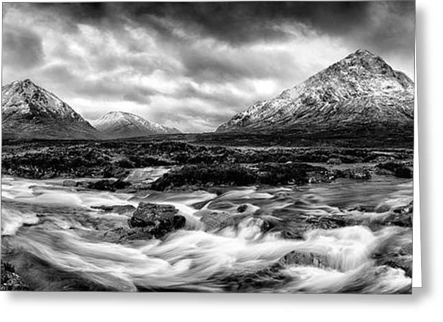 Highlands Of Scotland Greeting Cards - The Land of Giants Greeting Card by John Farnan
