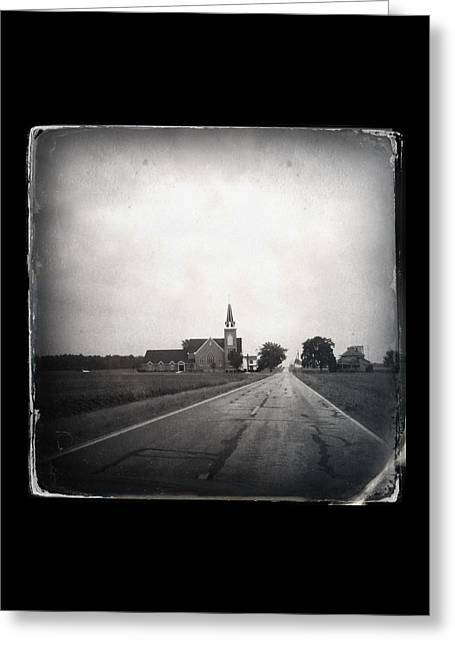 Recently Sold -  - Nicholas Greeting Cards - The Land of the Cross-Tipped Churches Greeting Card by Natasha Marco