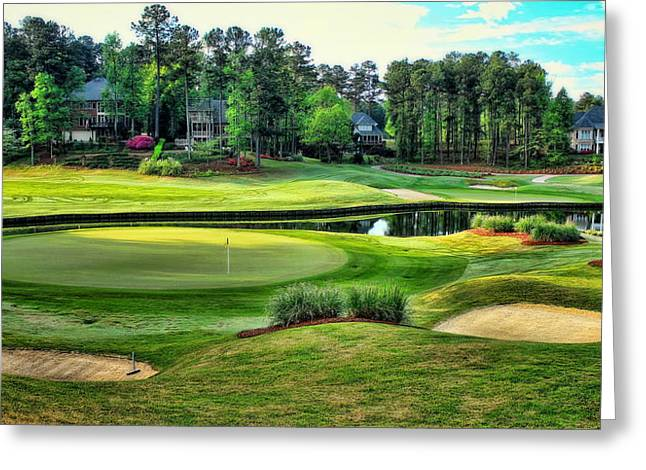 Golf Pictures Greeting Cards - The Landing at Reynolds Plantation Greeting Card by Reid Callaway