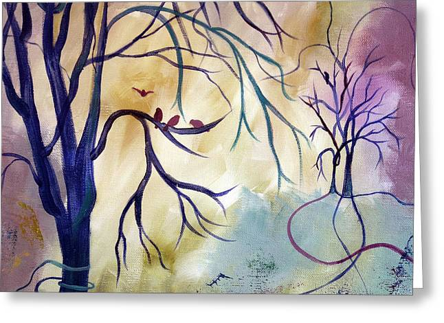 Tree Roots Paintings Greeting Cards - The Landing Place Greeting Card by Ruth Palmer