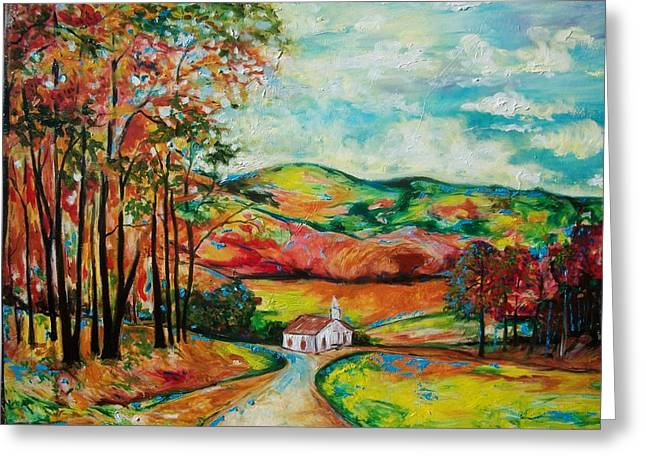 The Landscape I Love Greeting Card by Emery Franklin