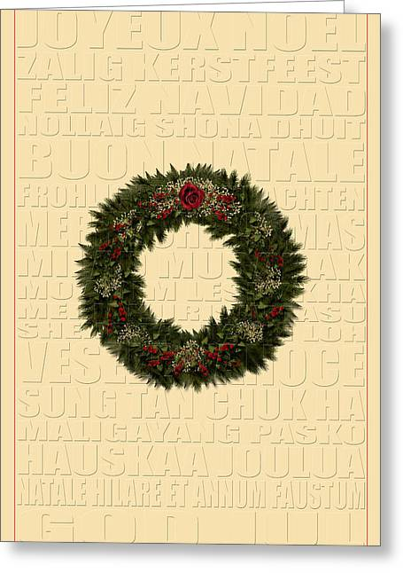 Buon Greeting Cards - The Language of Christmas 3 Greeting Card by Andrew Fare