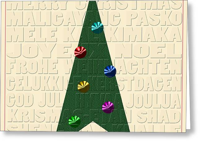 Buon Greeting Cards - The Language of Christmas Greeting Card by Andrew Fare