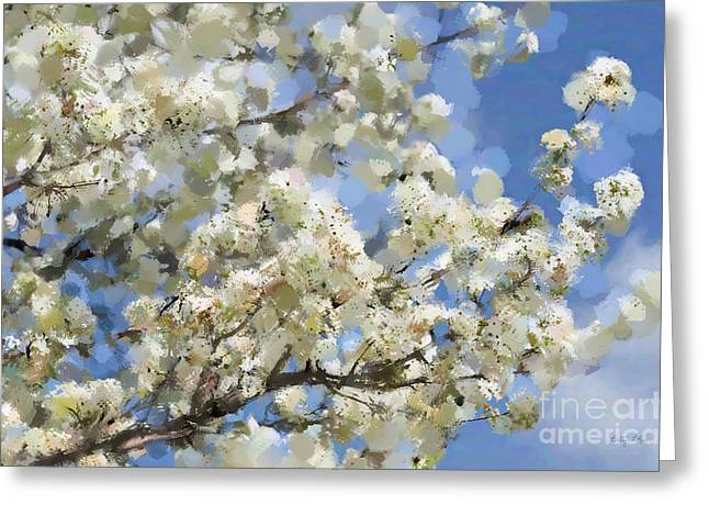 Process Digital Art Greeting Cards - The Language of Spring Greeting Card by Betty LaRue