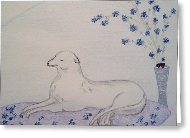 The Lap of Luxury Greeting Card by Christine Corretti
