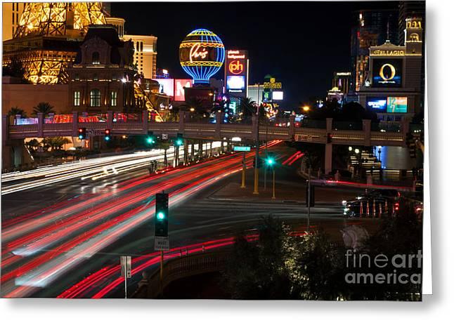 Eddie Yerkish Greeting Cards - The Las Vegas Strip Greeting Card by Eddie Yerkish