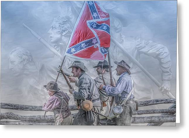 Confederate Flag Greeting Cards - The Last Charge Greeting Card by Randy Steele