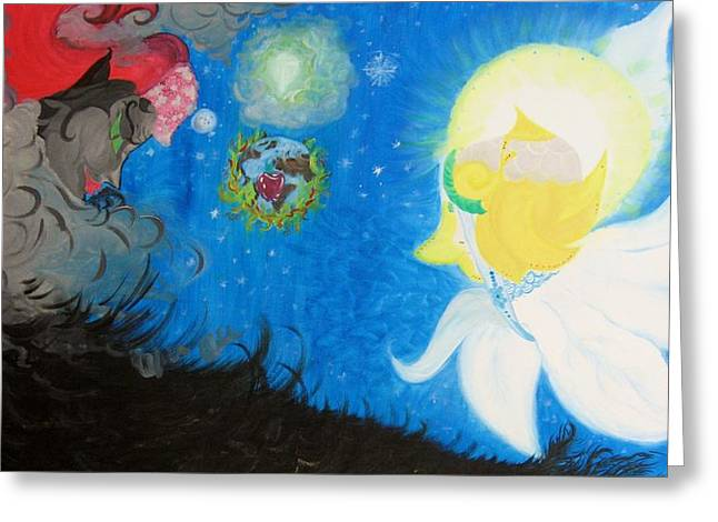 Seraphim Angel Paintings Greeting Cards - The Last Day Greeting Card by Marilu Dello Preite