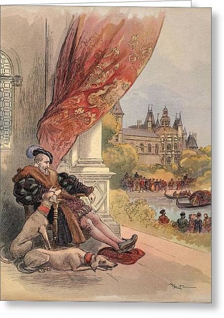 France Drawings Greeting Cards - The Last Days Of Francis I Greeting Card by Albert Robida